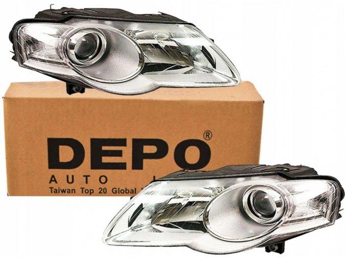 Přední světla VW PASSAT B6 (05-10) L+P DEPO