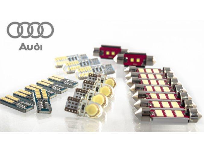 LED osvětlení interiér AUDI A6 C6 + osvětlení SPZ