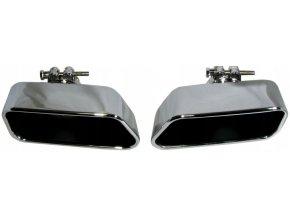 INOX 75456 Koncovka výfuku L+P 89x185x76mm BMW 5 F10 M-style
