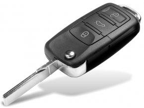 Náhradní obal klíče 3-tlačítkový, Volkswagen VW, SEAT, ŠKODA HU66 (HAA)