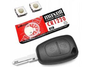 Náhradní obal klíče 2-tlačítkový, RENAULT TRAFIC, MASTER, KANGOO (NE73) + dárek