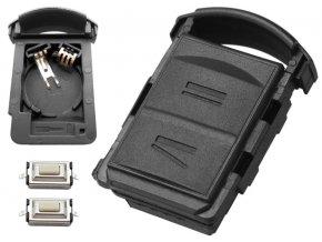 Náhradní obal klíče 2-tlačítkový, OPEL CORSA C COMBO MERIVA