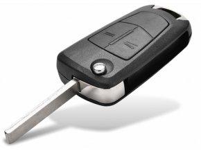 Náhradní obal klíče 2-tlačítkový, OPEL CORSA D ASTRA III 3 ZAFIRA B (HU100)