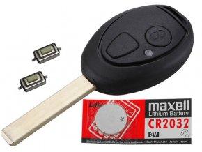 Náhradní obal klíče 2-tlačítkový, ROVER 75 / MG ZR ZT + dárek