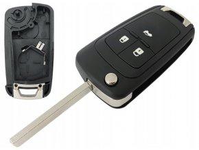 Náhradní obal klíče 3-tlačítkový, CHEVROLET ORLANDO CRUZE AVEO (HU100)