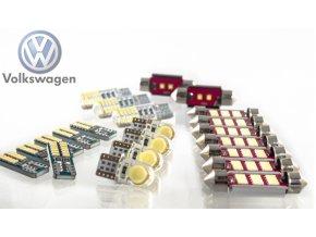 LED sada interiér Volkswagen VW GOLF 7 MK7 + osvětlení spz