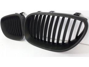 Přední maska, ledvinky, mřížky černá matná BMW 5 E60 (2003-2010) - sada L+P