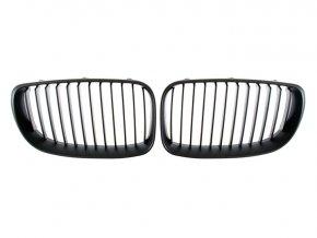 Přední maska, ledvinky, mřížky černá matná BMW 1 E81 E82 E87 E88 (2007-2011) - sada L+P