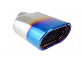INOX MT019BLC Koncovka výfuku 175x125x70mm - NEO CHROM