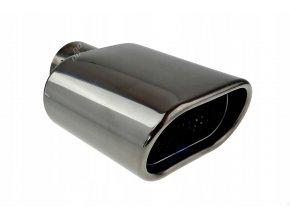 INOX MT019BC Koncovka výfuku 175x125x70mm - ŠEDÁ