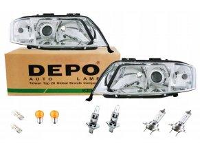 Přední světla AUDI A6 C5 (1997-2001) DEPO 4B0941030N - SADA