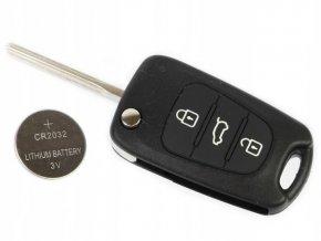 Náhradní obal klíče 3-tlačítkový, KIA CEED SOUL SPORTAGE VENGA - 1J000-433-EU