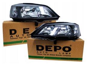 Přední světla Opel Astra II G (98-09) H7+HB3 L+P DEPO