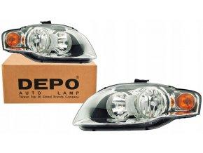 Přední světla AUDI A4 B7 L+P DEPO