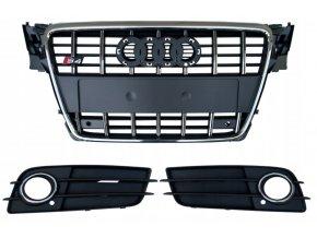 Přední maska AUDI A4 S4 S-LINE B8 (07-11) + mřížky do nárazníku - 8K0853651