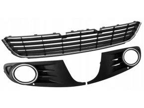 MŘÍŽKA PŘEDNÍHO NÁRAZNÍKU / STŘED + L + P / SADA, Volkswagen VW Golf 6 VI