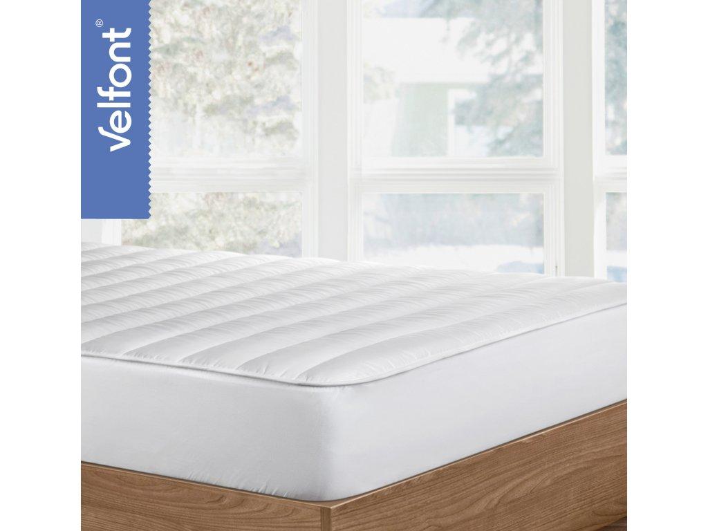 Topper - vysoký prošívaný matracový chránič 90x200, výplň 600g/m2, výrazně změkčuje lůžko