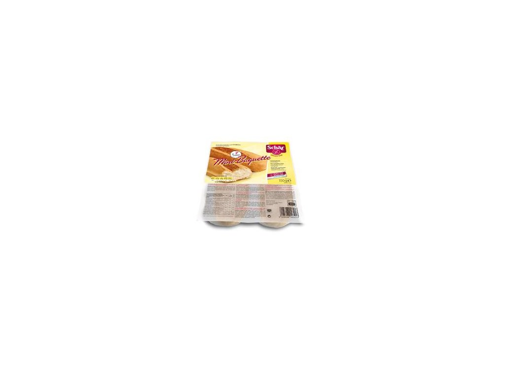 Duo Minibaguette k dopečení (150g - 2x75g) - BEZ LEPKU, BEZ MLÉKA, BEZ VAJEC