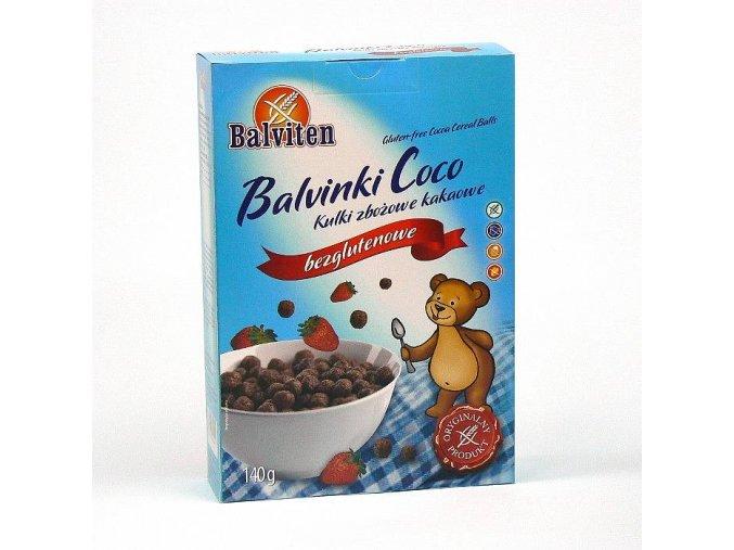 Balvinky Coco cereální kuličky čokoládové - BEZ LEPKU, MLÉKA, VAJEC