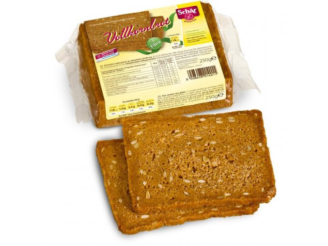 Celozrnný chléb Solena Volkornbrot 250g - BEZ LEPKU, BEZ MLÉKA, BEZ VAJEC