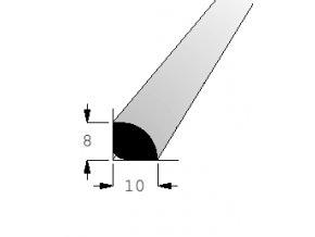 Lišta rohová vnější RV1008 BOR/240 nast.