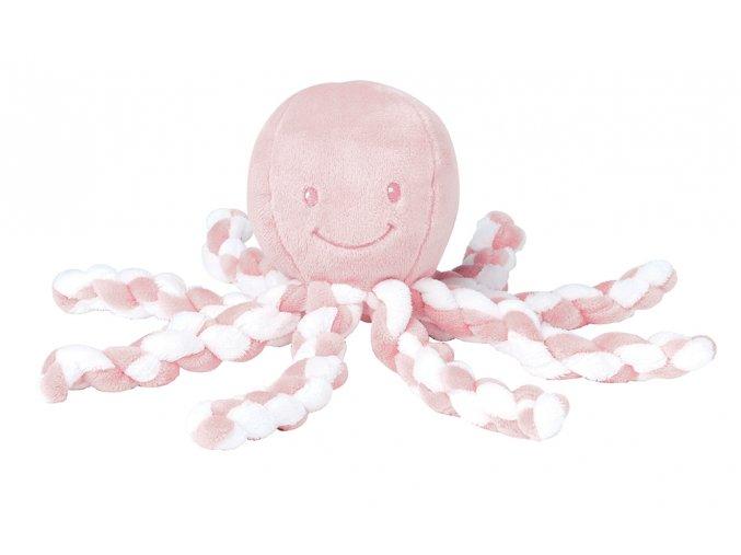Prvá hračka bábätka chobotnička PIU PIU - light pink 0m+