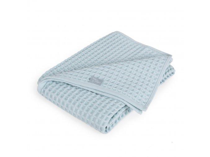 Detská deka WAFFLE LINE - minth blue