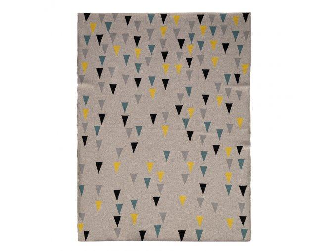 Deka Harmony Happy Triangles 100% bavlna 80x100 cm