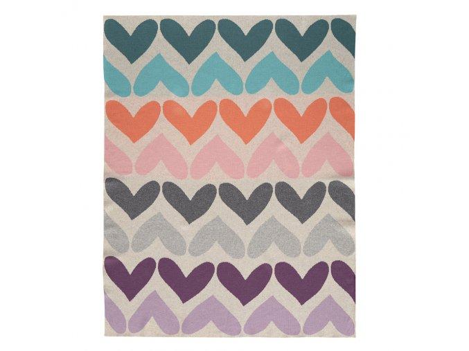 Deka Harmony Pure Hearts 100% bavlna 80x100 cm