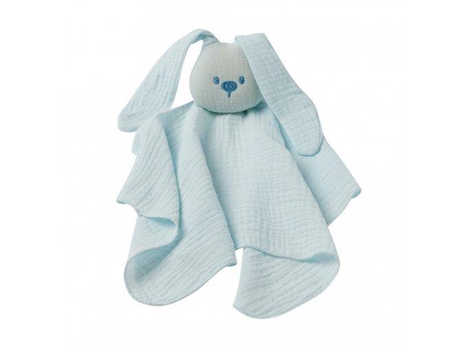 Maznáčik bavlnený - aqua blue 44x44 cm