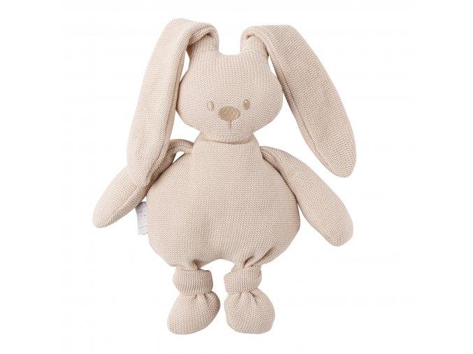 Pletená bavlnená hračka zajačik - cuddly beige 36 cm