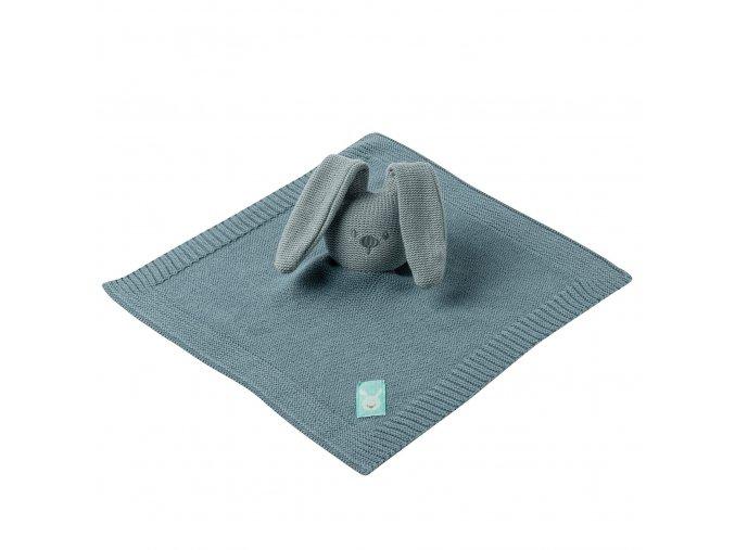 Maznáčik pletený bavlnený - coppergreen 32x32 cm