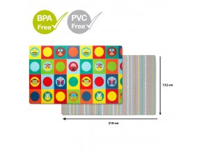 SKIP HOP Podložka na hranie bez PVC a BPA 218x132cm Zoo 0m+