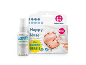 PETITE&MARS Odsávačka nosných hlienov na vysávač Happy Nose 0 m+50 ml Aquaint gratis