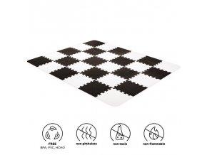 KINDERKRAFT Podložka penová puzzle Luno 150 x 180 cm Black, 30 ks