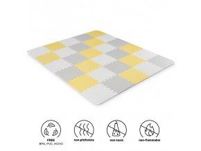 KINDERKRAFT Podložka penová puzzle Luno 150x180 cm Yellow, 30ks