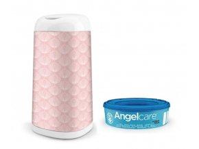 ANGELCARE Kôš na plienky Dress Up + 1 kazeta + poťah na kôš Flower
