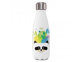CHICCO Fľaša nerezová termo Chicco Drinky Panda, 350 ml