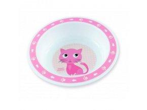 CANPOL BABIES Miska plastová CUTE ANIMALS 270ml - mačička