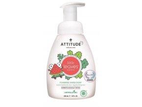 ATTITUDE Detské penivé mydlo na ruky Little leaves s vôňou melónu a kokosu, 295 ml ATTITUDE Detské