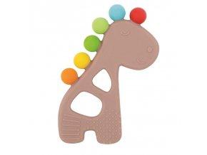 NATTOU Hryzačka silikónová s výstupkami bez BPA žirafa
