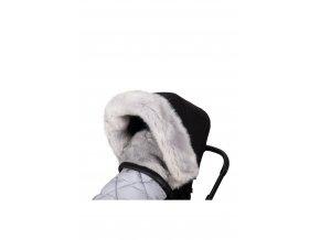 624 2 fur collar grey
