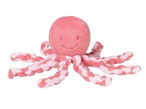 Prvá hračka bábätka chobotnička PIU PIU - pink coral 0m+