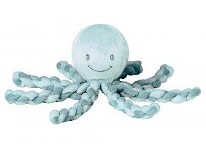Prvá hračka bábätka chobotnička PIU PIU - mint 0m+