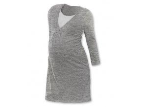 Tehotenská, dojčiaca nočná košeľa JOHANKA - šedá