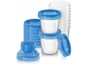 Avent VIA zásobníky na materské mlieko 10ks