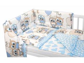 97663 160913 3 dielna sada mantinel s oblieckami cute owls modra