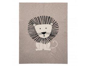 Deka Harmony Brave Lion 100% bavlna 80x100 cm