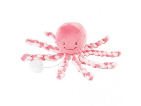 Prvá hračka bábätka hrajúca chobotnička PIU PIU Lapidou - pink coral/light pink 0m+