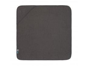 Mušelinová osuška Hooded Towel - antracit